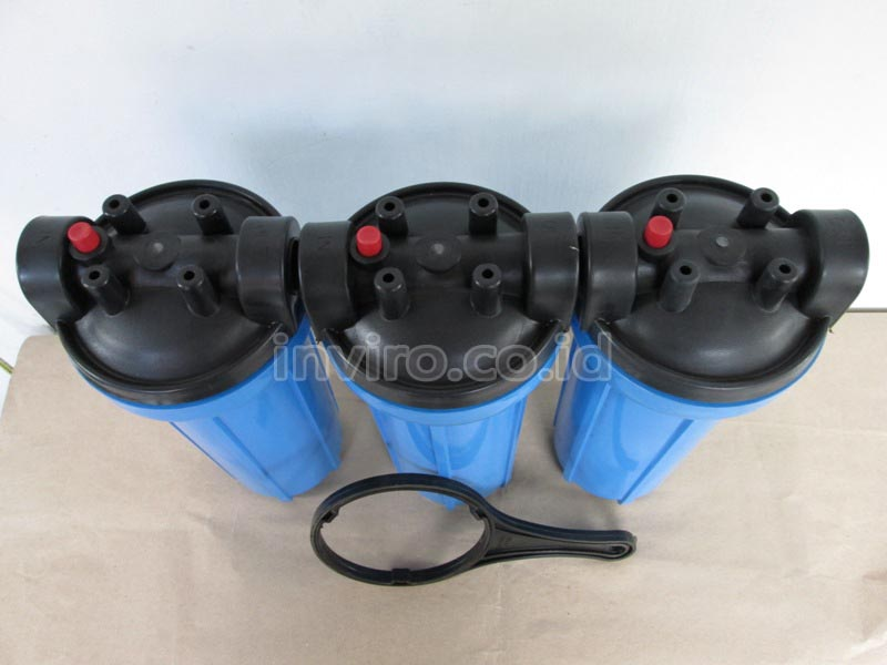 "Housing Filter Ukuran 10"" Warna Biru Merk Water Tech"
