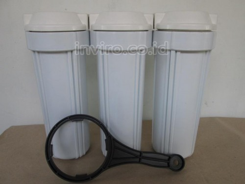 "Housing Filter Ukuran 10"" Warna Putih In-Out 1/4"" Taiwan"