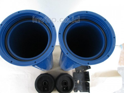 "Housing Filter Ukuran 20"" Warna Biru Drat Kuningan Taiwan"