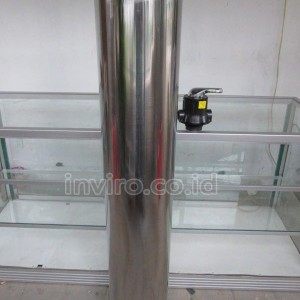 "Tabung Media Stainless Steel 10"" 1054 Model 3 Way Valve"