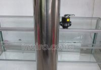 Tabung Media Stainless Steel 10″ 1054 Model 3 Way Valve